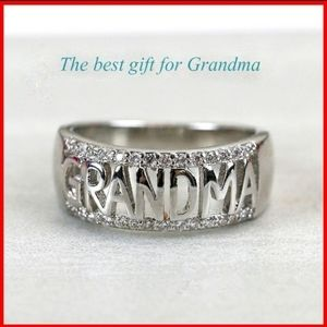 Grandma High Polished Stainless Steel & Diamonds
